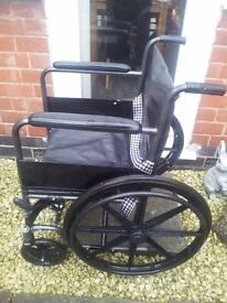 LEATHER WHEELCHAIR NEW MODEL AS NEW COST 300