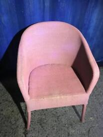 Pink woven bedroom chair FREE DELIVERY PLYMOUTH AREA