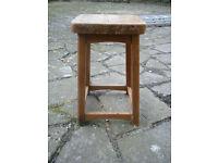 Short wooden stool