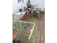 HABITAT 'NIC' DESKS – x2 Medium in AWESOME YELLOW! *RARE*
