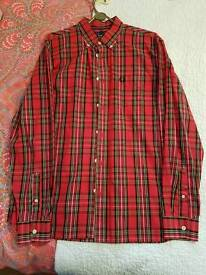 Fred perry classic Tartan shirt large