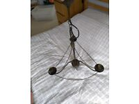 Metal chandelier light for sale - excellent condition