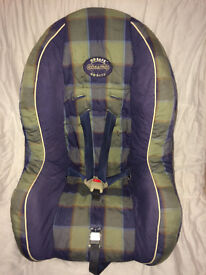 Cosatto child's car seat suitable from birth-18kg