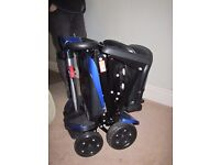 Electronicaly folding mobility scooter, used twice, 5 months warranty
