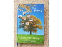 JOURNAL OF A LIFETIME DEAR FRIEND FROM YOU TO ME - BRAND NEW