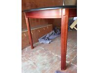Wood Extendable Dining Table And Four Chairs