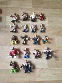 Miniature wrestling figures and ring