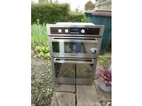 hotpoint stainles steel double oven used but works fine
