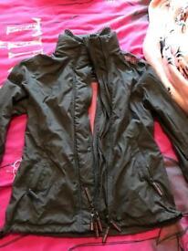 Ladies pink windcheater superdry coat size L