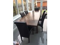 Dining table & chairs from Fishpools