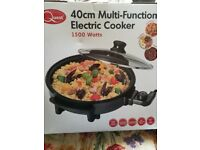 40cm multi-function electric cooker. New still in box