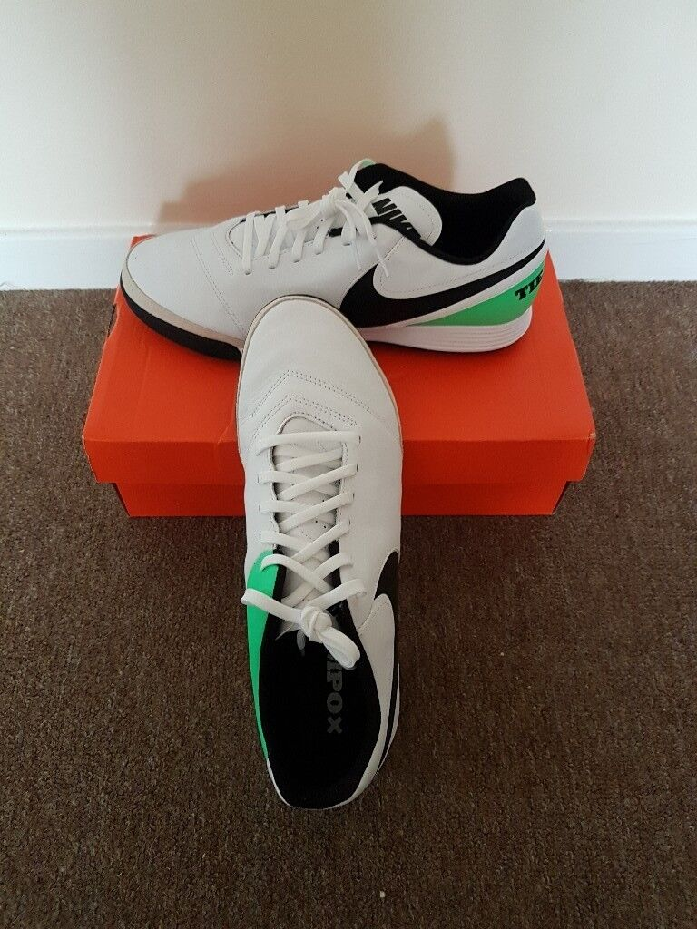 f10a4f83d5f7 NEW Nike Tiempo Genio Leather Mens Astro Turf Trainers 6 UK