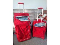 Kipling Teagan and Darcey suitcases red