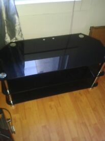 Black and chrome tv stand £15