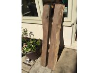2 pieces of Oak- for feature in old home, fireplace etc. Oak beams