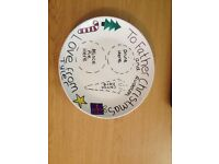 Personalised Christmas Eve plates + free personalised letter from santa