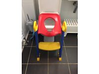 Baby Toddler Kid Foldable Toilet Seat Potty Trainer with Step - £10