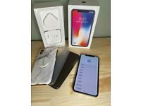 iPhone X White 64GB Unlocked Perfect Condition 3Cases & Pop Socket