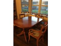 Table, chairs, and sideboard for sale (matching)