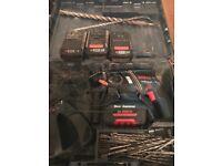 Bosch 36v sds drill plus 4 batteries