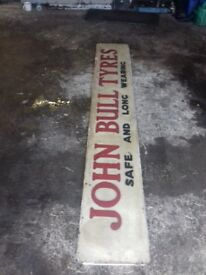 Excellent vintage john bull tyre sighn great condition