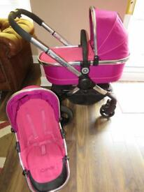 iCandy Peach 3 fushcia Pink Pram Pushchair Travel System