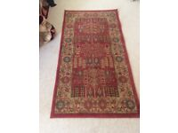 2x Red Persian Style Rugs (80 x 150cms) for Sale. Almost New.