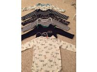 Selection of baby boys body suits 9-12 months