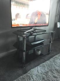 Black Glass Corner TV Stand - Ayrshire