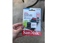 Scan Disk Micro SDXC Card with adapter - unopened