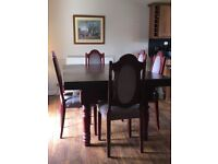 Snooker/Dining Table and Chairs