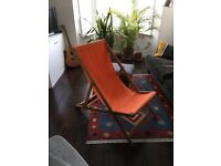 Two deck chairs (Habitat Maui - orange and turquoise)