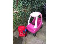 Little Tikes Cosy Coupe Pink & Petrol Pump