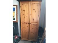 Lovely pine wardrobe, excellent condition