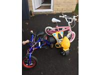 Kids bikes, trolleys, stool and more for quick sale