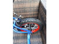 Boy's bike suitable for 2/4 year old ridden once