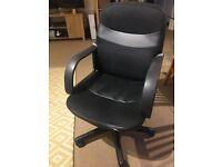 Black office swivel desk chair