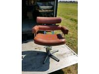 Vintage retro hairdresser chairs 2 good condition some small cracks on arm of chair