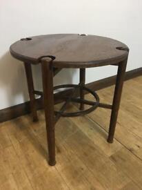 Unusual oak vintage side table