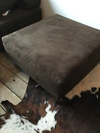Large pouffe / square seat, brown suede effect, from Habitat