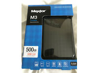 Maxtor M3 500 GB External HDD - Brand New box unopened
