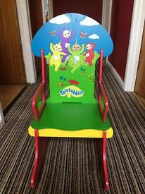 Teletubbies - wooden rocking chair