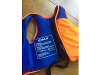 Kids swim vest, baby float, 2 sun hats, swim outfits