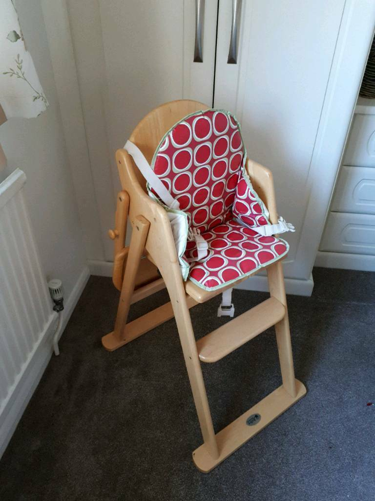 Baby Weavers Wooden High Chair with cushion | in Peterborough, Cambridgeshire | Gumtree