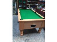 Pool table slate bed pub style