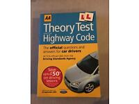 Theory test and Highway Code book