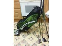 LEFT HANDED junior pro golf bag plus accessories + free golf gift. ..REDUCED