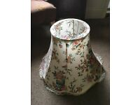 Lamp shade for standard lamp floral print