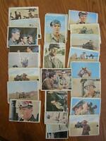 """Cards, """"Rat Patrol"""" 1966 TV Series (24) Bubble Gum Cards"""