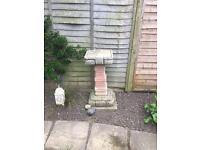 Stone Bird Table / Bath / Table / Feeder Garden Ornament